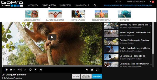 content marketing: Gopre e i video degli utenti