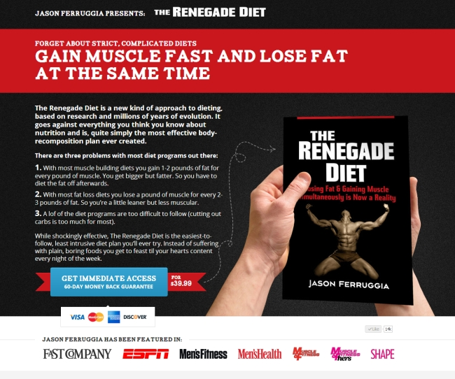 unique selling proposition renegade diet