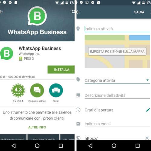 whatsapp business registrazione account