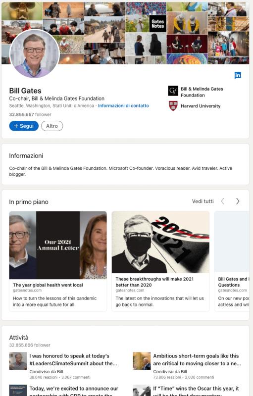 bill gates linkedin trovare clienti online con linkedin importanza network tips per non far fuggire i possibili clienti su linkedin